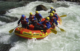 Whitewater river rafting in Central America and South America