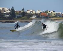 Surfing in Punta del Este