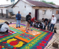 Carpets for Easter Week in Guatemala